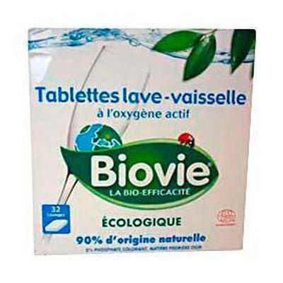 Tablettes écologiques pour lave-vaisselle BIOVIE, 32 unités, boîte de 640g