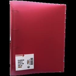 Classeur souple, format A4, dos 40mm, rouge