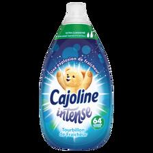 Assouplissant intense tourbillon de fraîcheur CAJOLINE, bidon de 960ml, 64 lavages