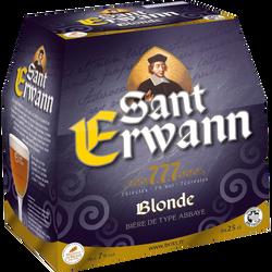 Bière d'abbaye SAINT ERWANN, 7°, 6x25cl