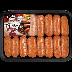16 mini tapas chorizo à griller, TENDRE ET PLUS, Barquette, 640g