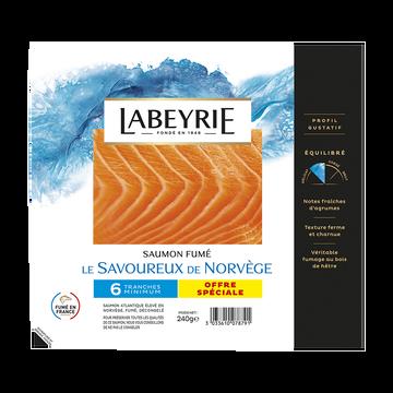 Labeyrie Saumon Atlantique De Norvège Fumé  6 Tranches 240g Offre Spéciale