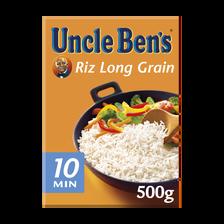 Riz long grain 10 minutes UNCLE BEN'S, vrac 500g