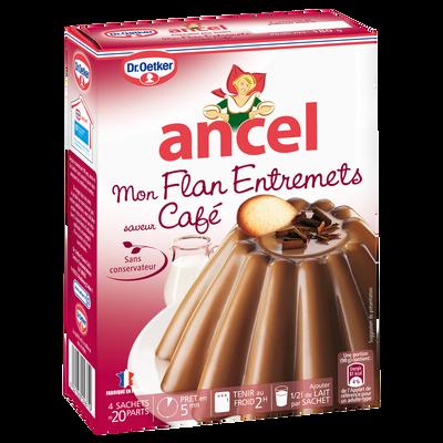 Préparation pour flan entrement parfum café ANCEL, 4 sachets, 180g