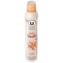 Déodorant pour femme 24H jolie vanille BY U, atomiseur de 200ml