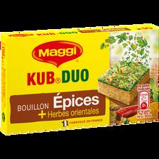 Bouillon kub duo épices & herbes orientales, MAGGI, 10 tablettes de 105g