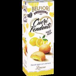 Biscuits fourrés à la crème goût citron BELFIORI, 200g