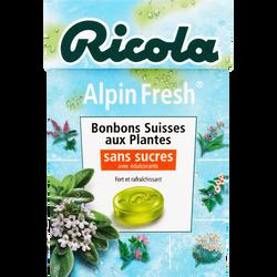 Bonbons alpin fresh sans sucres avec édulcorant RICOLA, boîte de 50g