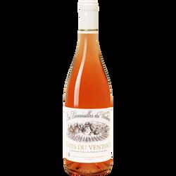 """Vin rosé AOC Côtes du Ventoux """"Les Demoiselles Coiffées"""", 75cl"""