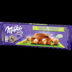 Chocolat au lait avec noisettes entières MILKA, 270g
