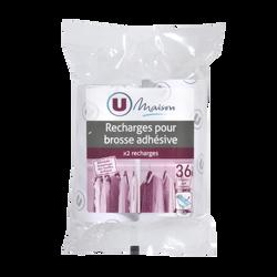 Recharges adhésives pour brosse U MAISON, 36 feuilles, 2 unités