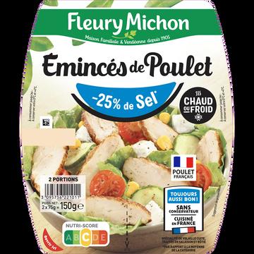 Fleury Michon Emincés De Poulet Rôti -25% De Sel Fleury Michon 2x75g 150g