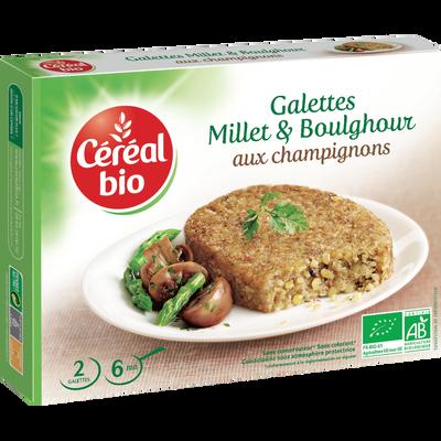 Galettes de millet aux champignons CEREAL BIO, 200g