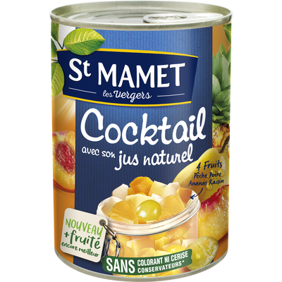 Cocktail de fruits au sirop ST MAMET, 250g