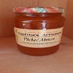 Confiture pêche-abricot,430g, Recette du Jura