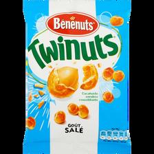 Cacahuètes enrobées goût salé Twinuts BENENUTS, 150g
