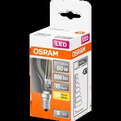 Ampoule led filament OSRAM sphérique 60W culot E14 blanc