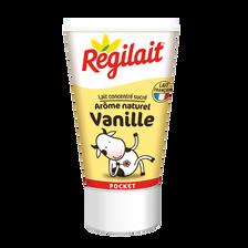 Régilait Lait Concentré Sucré Vanille , Tube Pocket De 60g