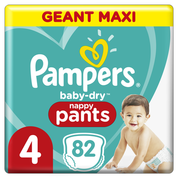 Pampers Pampers Baby Dry Pants Couches-culottes Geant Maxi T4 X82