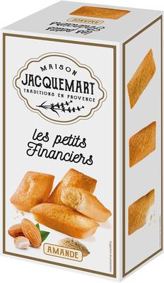 Gâteaux Les petits financiers aux amandes JACQUEMART, paquet de 120g