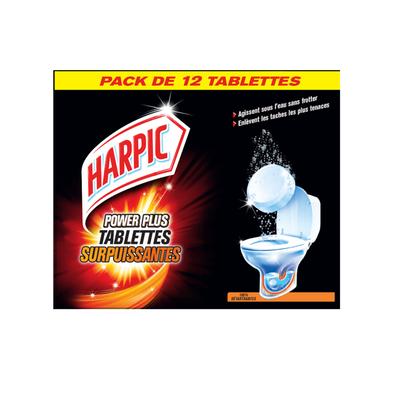 Tablettes surpuissantes power plus 100% détartrantes HARPIC, x12