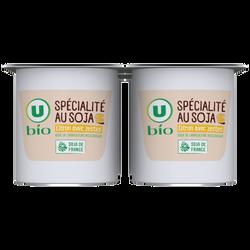 Spécialité végétal à base de soja au citron U BIO, 4x100g
