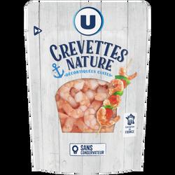 Crevettes nature cuites et décortiquées U, 100g