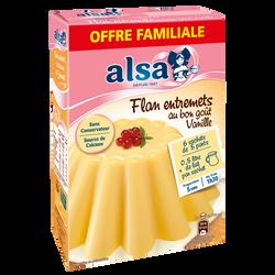 ALSA Préparation Flan Entremets Vanille Offre Familiale, 288g