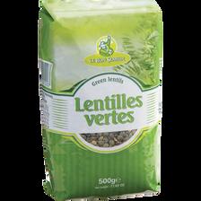 Lentilles vertes LE BON SEMEUR, 500g
