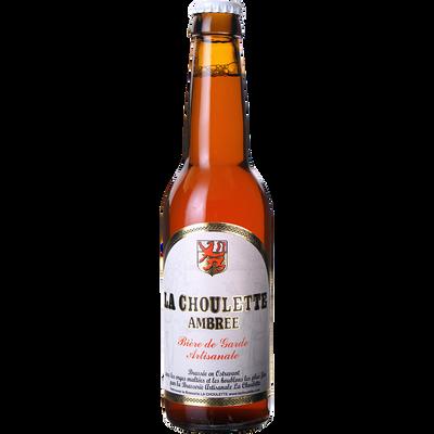 Bière ambrée CHOULETTE, 8°, bouteille de 33cl