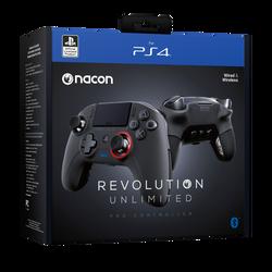 Manette sans fil NACON PS4 Revolution Unlimited pro controller 3-utilisation jusqu'à 7m-autonomie 7h-fonctionneà l'aide d'un récepteur bluet ooth-gameplay ultra performant