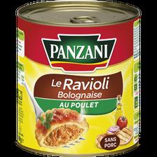 Ravioli bolognaise poulet sans porc PANZANI 4/4, 800g