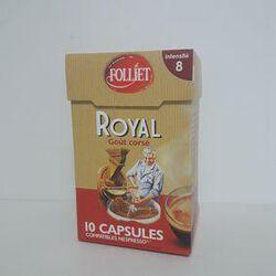 Capsules royal corsé FOLLIET 10 capsules