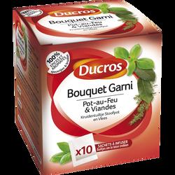Bouquet garni pour pot au feu et viandes DUCROS, 10 sachets, 16g