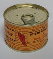 Pâté de foie de porc au Piment d'Espelette Lou Gascoun 130g