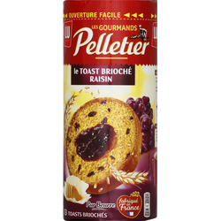 Toasts briochés aux raisins PELLETIER, 175g