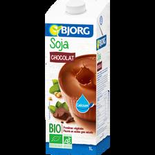 Soja à boire petit déjeuner au chocolat calcium bio BJORG, 1L