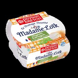 Fromage fouetté lait pasteurisé Madame Loîk oignon estragon PAYSAN BRETON, 23%mg, 150g