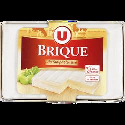 Fromage Brique au lait de vache pasteurisé U, 32%MG, 200g