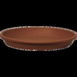 Soucoupe CILINDRO, diamètre 25cm, en plastique, terre cuite