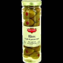 Olives farcies poivrons Rouges ERIC BUR, 95g