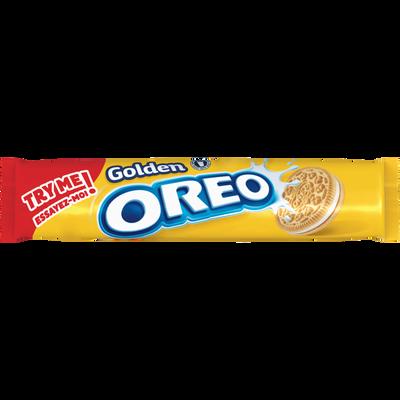 Biscuits fourré goût vanille golden OREO,  paquet de 154g