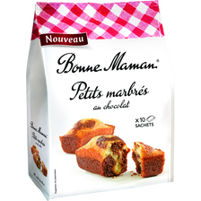 Mini marbrés au chocolat BONNE MAMAN, 10x300g