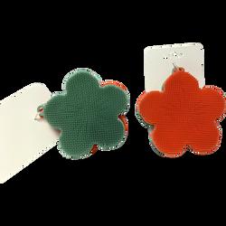 Eponge en forme de fleur, coloris assortis, pack de 2