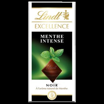 Lindt Chocolat Noir Menthe Intense Lindt Excellence, Tablette De 100g