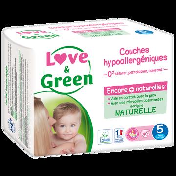 Love & Green Couches Sensitives Et Écologiques Taille 5 Love&green, 40