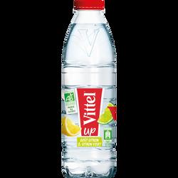 Eau aromatisé citron et citron vert bio VITTEL, 1L