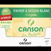 Canson Papier Dessin , 24x32cm, 180g, 24 Feuilles