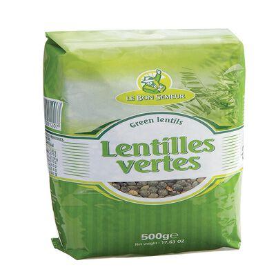 ETS TRESCARTE LENTILLES VERTE LE BON SEMEUR 500GRS