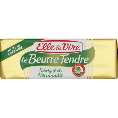 Beurre tendre demi-sel ELLE&VIRE, 250g